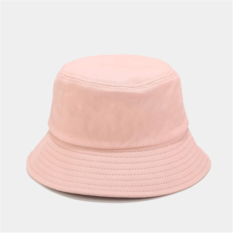 High quality fashionable unisex custom logo solid color bucket cap hat