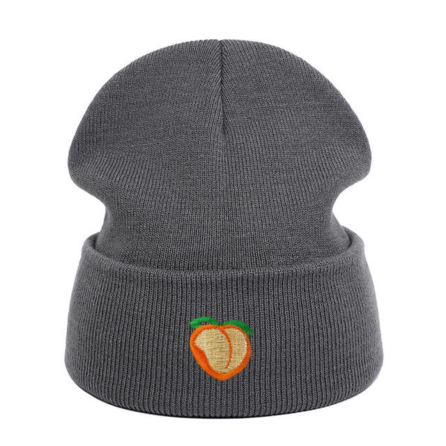 Man Women Winter 100 Unisex Adult Adjustable Cotton Peach Embroidery Knitted hats Hip hop Dad Hat