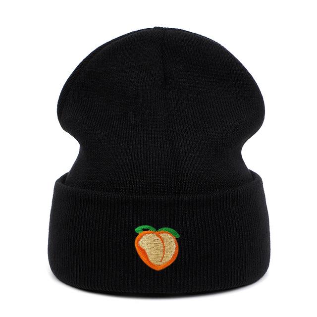 ACE basic black knit beanie bulk production for fashion-14