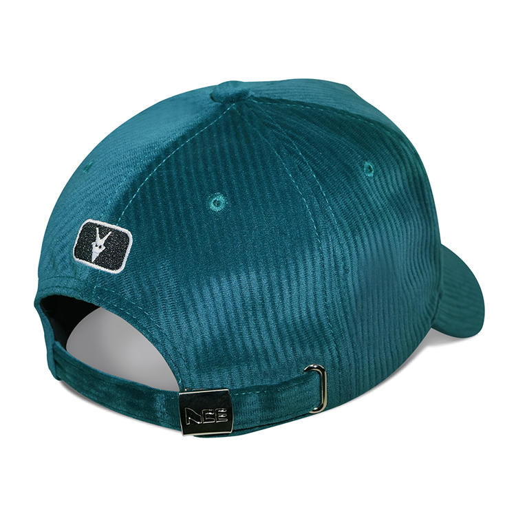 Ace Custom Corduroy Embroidery Baseball Cap With Sublimation Patch Dad Hats
