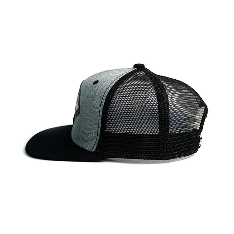 High quality customized design rubber patch logo ACE mesh trucker caps and hats