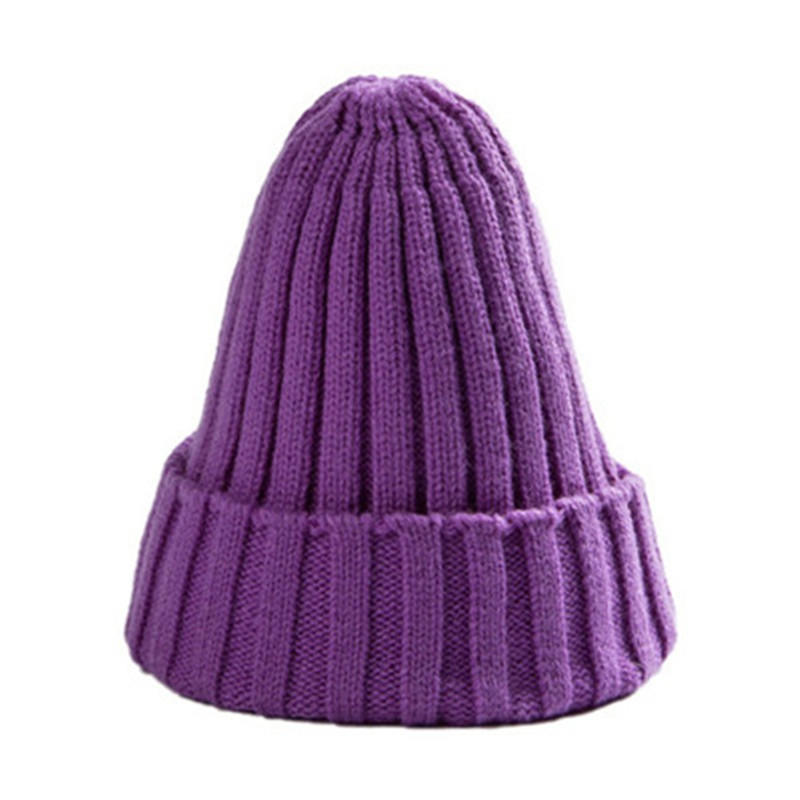 Female MenUnisex Cotton Blends Solid Warm Soft HIP HOP Knitted Hats Winter Caps Hat
