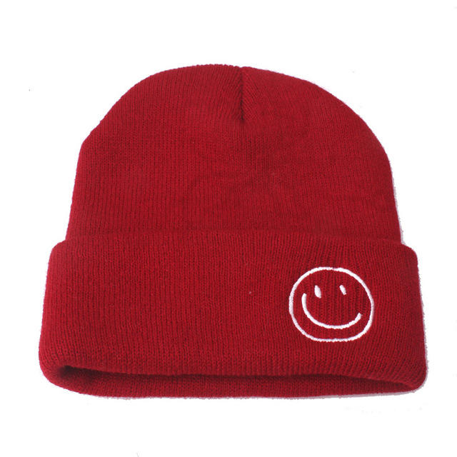 Smile knitting Beanie hat For Children Girls And Boys Candy Color Winter Baby Kids Hat