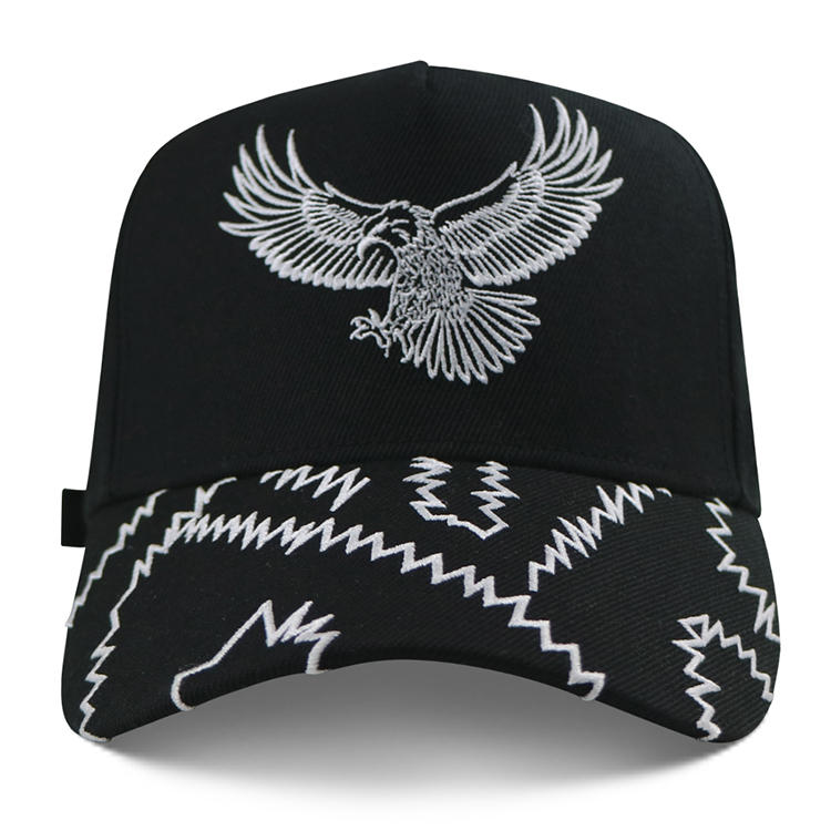 Embroidery Logo Custom Structured Baseball Cap Sports Hat Strap With Metal Buckle