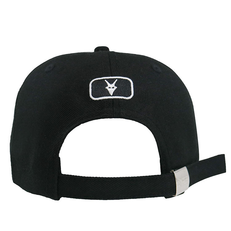 Custom Embroidery Logo Structured Baseball Cap Sports Hat With Metal Buckle