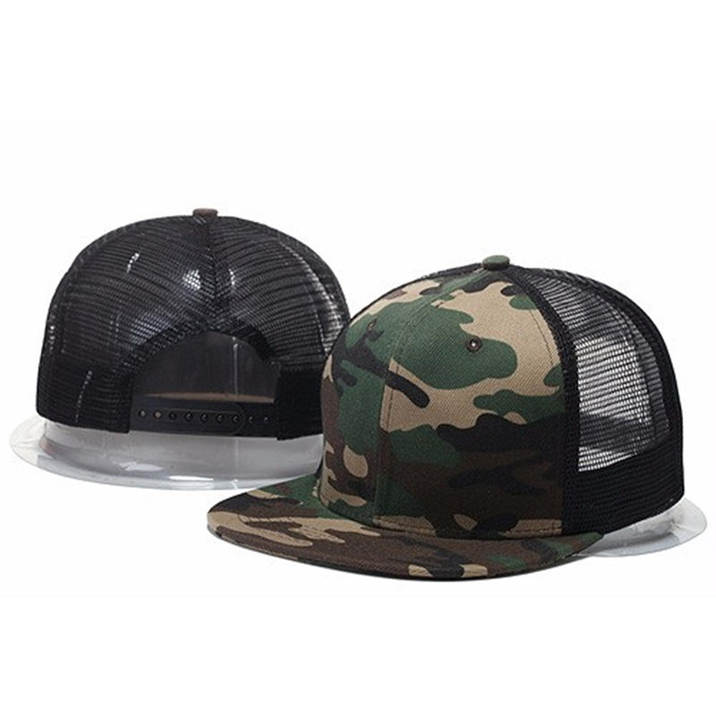 New Styles Blank Mesh Camo Baseball Caps Black Hip Hop Hats Mens Women Casquettes Cap