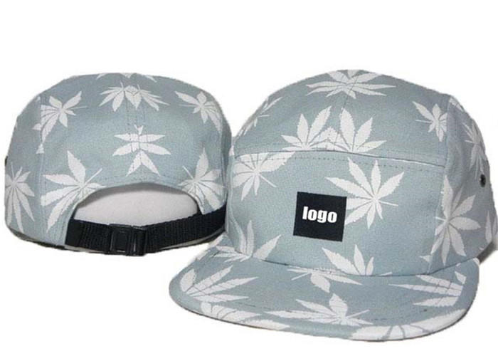 Hot Sales  Hip Hop Hats Cap For Women Men Adjustable Short Flat Brim Maple Pattern Camper Cap