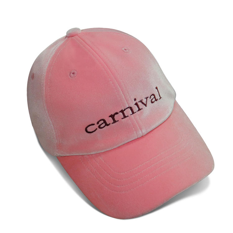 ACE Polyester Peach Skin Baseball Cap Metal Buckle With Self Strap Embroidery Logo