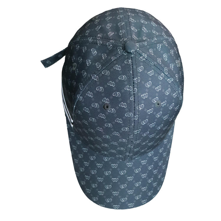 Custom Logo Structured Baseball Cap Sports Hat Strap With Metal Buckle Sublimation Printing