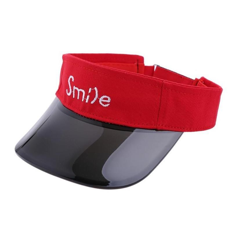 Children Summer Cotton Visor Caps Smile Children Boy Girl Travel Hat Baby Topless UV Protection Hat Cap
