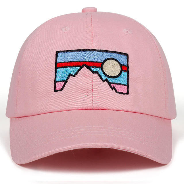 New Style Baseball Cap Dusk Sunset Embroidery Cotton Hat Fashion Dad Hat