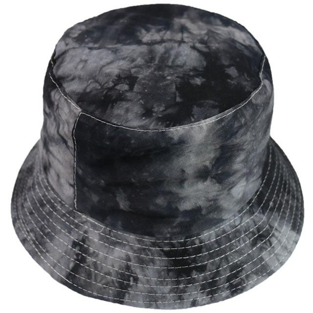 Hot Sales Fashionable Tie Dye Bucket Hat Fishing Caps Womens Flat Fishermen Caps