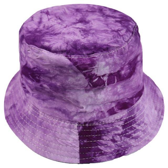 Hot Sales Fashionable Tie Dye Bucket Hat Fishing Caps Womens Flat Fishermen Caps