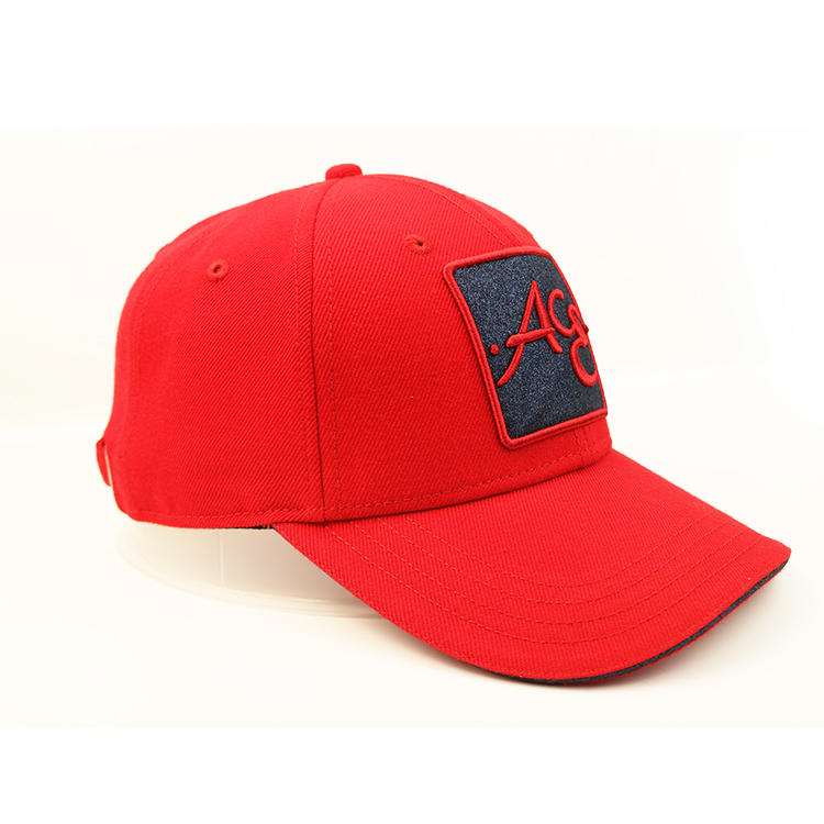 ACE Headwear Festival Red custom embroidery logo inner tape baseball caps