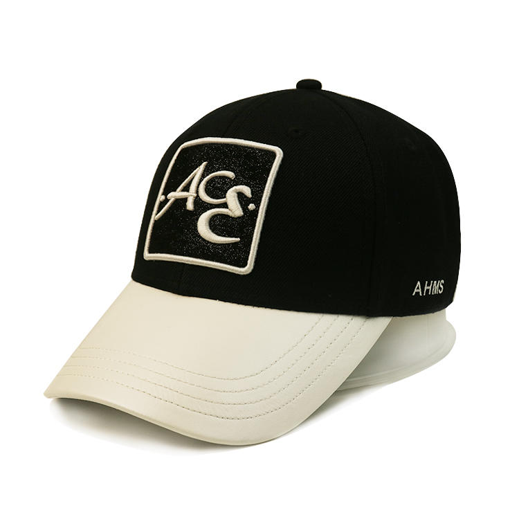Stitching 3D Embroidery Logo Sports Cap With Black Edge Strip fashion baseball cap