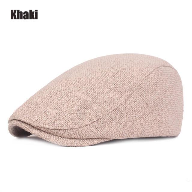Men Women Cotton Linen Berets Sombrero Hombre Outdoor Travel Solid Gatsby Cap Ivy Hat Driving Cap