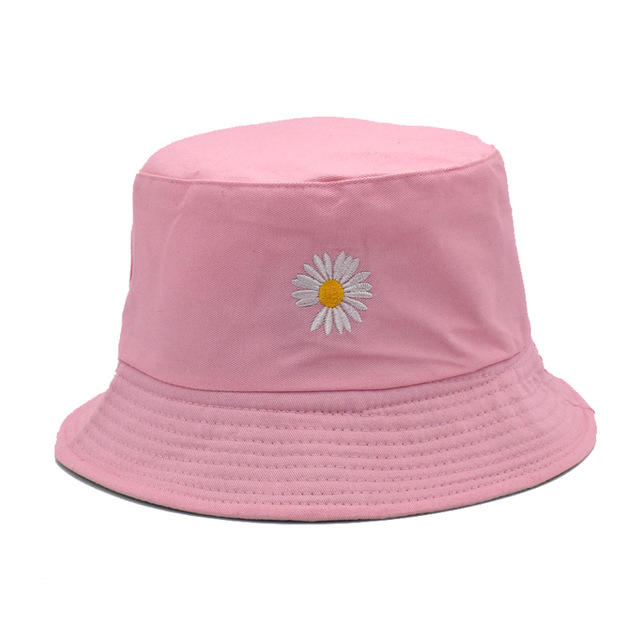 New Fashion Women Cotton Reversible Panama Embroidery Summer Beach Sun Hats Bob Chapeau Female Bucket Hats Cap