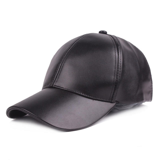High-end Summer Pu Leather Cap For Men Women Baseball Caps Unisex Curve Brim Hat