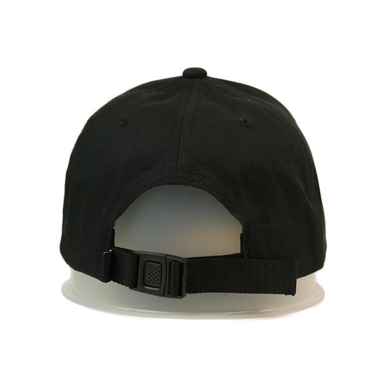 6panel hip-hop custom sports woven label black baseball caps