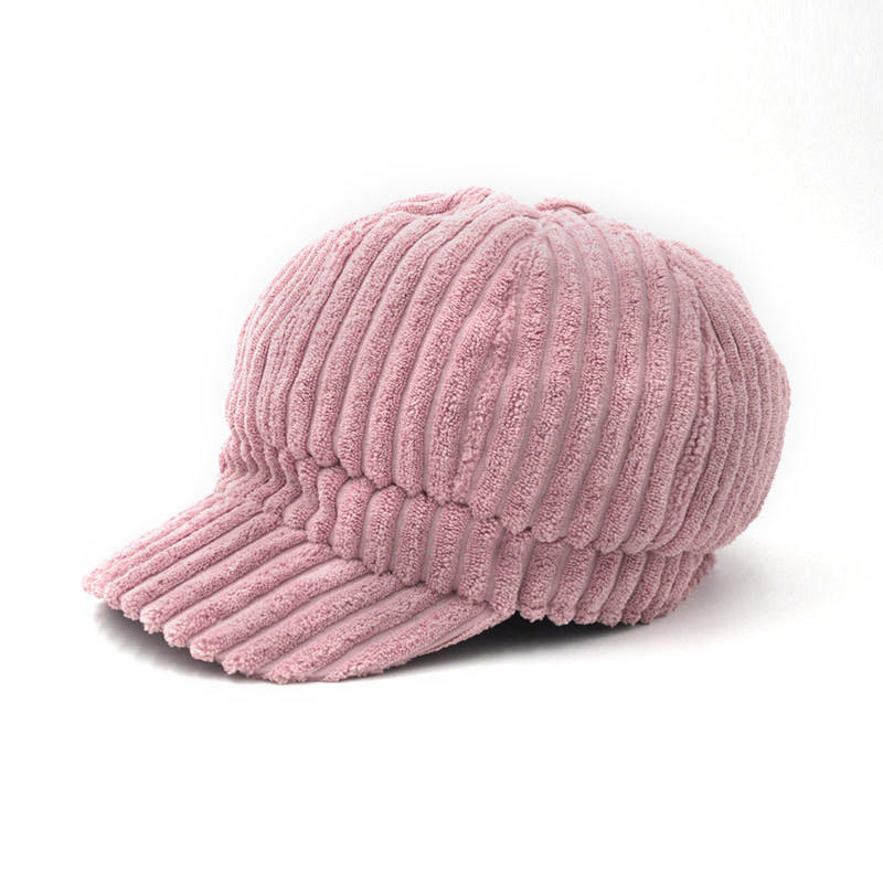 Corduroy Winter Caps For Women Solid Plain Octagonal Newsboy Cap Men Ladies Casual Wool Hat Winter Cap