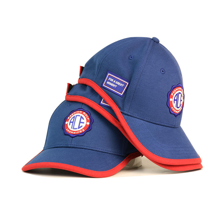 ACE Headwear custom design rubber patch logo baseball cap