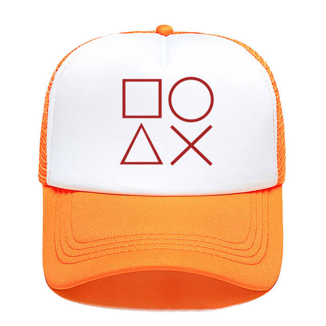 New Creative Game Print Summer Baseball Cap Women Men Unisex Parent Child Hats Mesh Cap