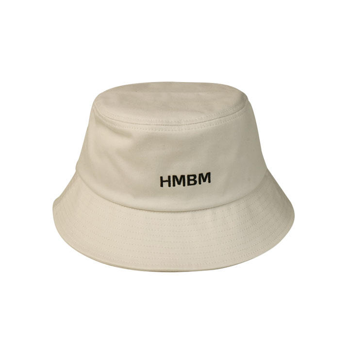 Embroidery Plain Cotton Blank Custom Bucket Hats For Adult