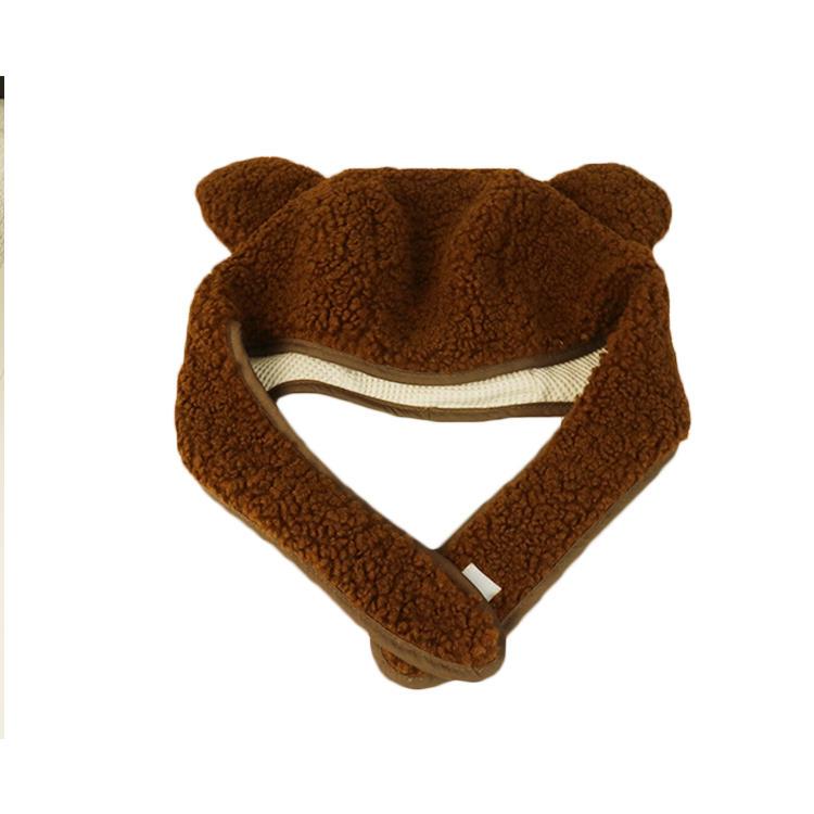 Wholesale custom logo velvet  furry baseball cute kids caps