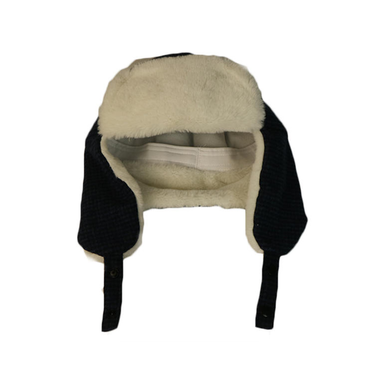 Men's Winter New Style Real Mink Fur Hats High Quality Fur Bomber Caps