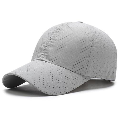 Solid Summer Men Snapback Women Quick Dry Mesh Cap Breathable Sun Bone Hat Baseball Cap