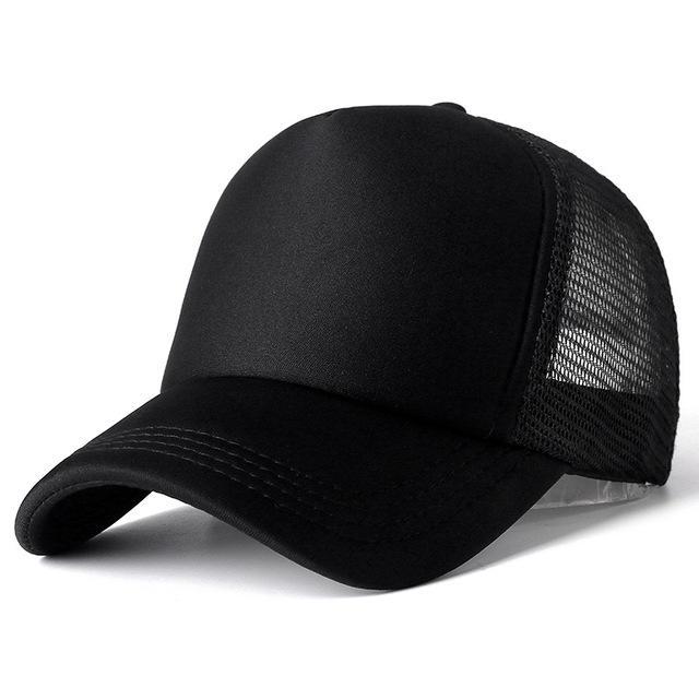 Unisex Cap Casual Plain Mesh Baseball Cap Adjustable Snapback Hats For Women Men Hip Hop Cap