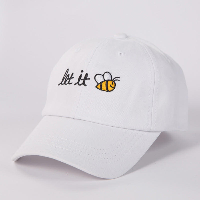 Embroidery Dad Hat Text Let It Bee Men Women Summer Baseball Caps Snapback Cool Curved Brim Cap