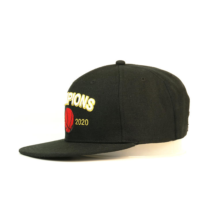 Customized flat brim structured 6 panel cotton soft front snapback caps