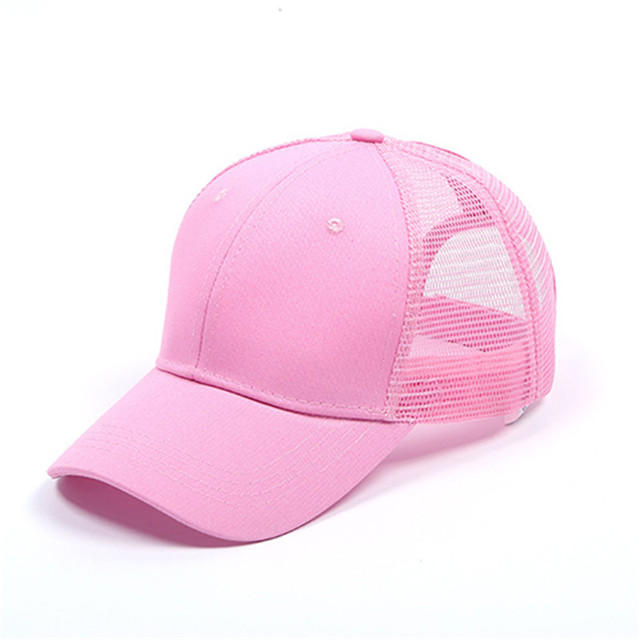 Glitter Fabric Ponytail Women Snapback Hat Summer Mesh Hats Casual Adjustable Sport Trucker Cap