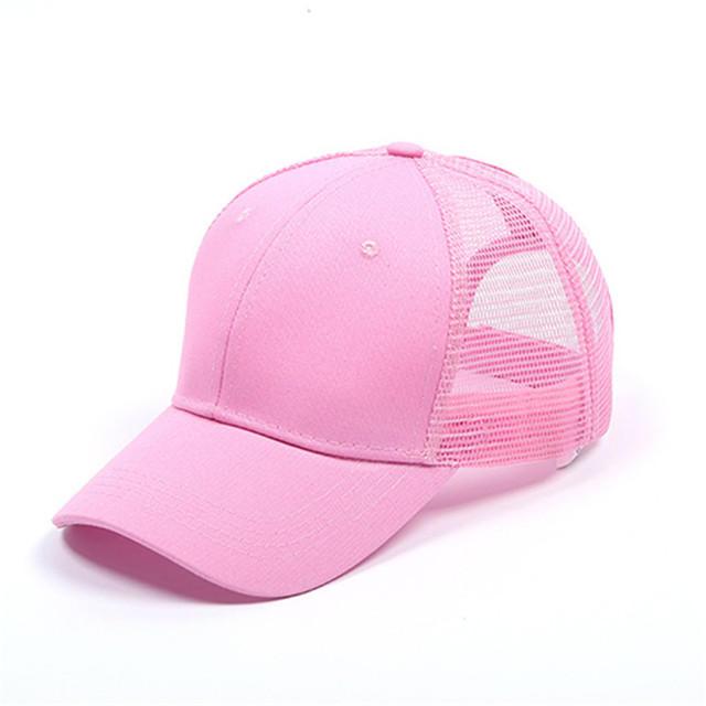 Glitter Fabric Ponytail Women Snapback Hat Summer Mesh Hats Casual Adjustable Sport Trucker Cap