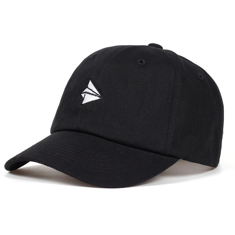 Paper Plane Embroidery Baseball Cap Men Women Summer Adjustable Cotton Lovely Dad Hat Hip Hop Snapback Cap
