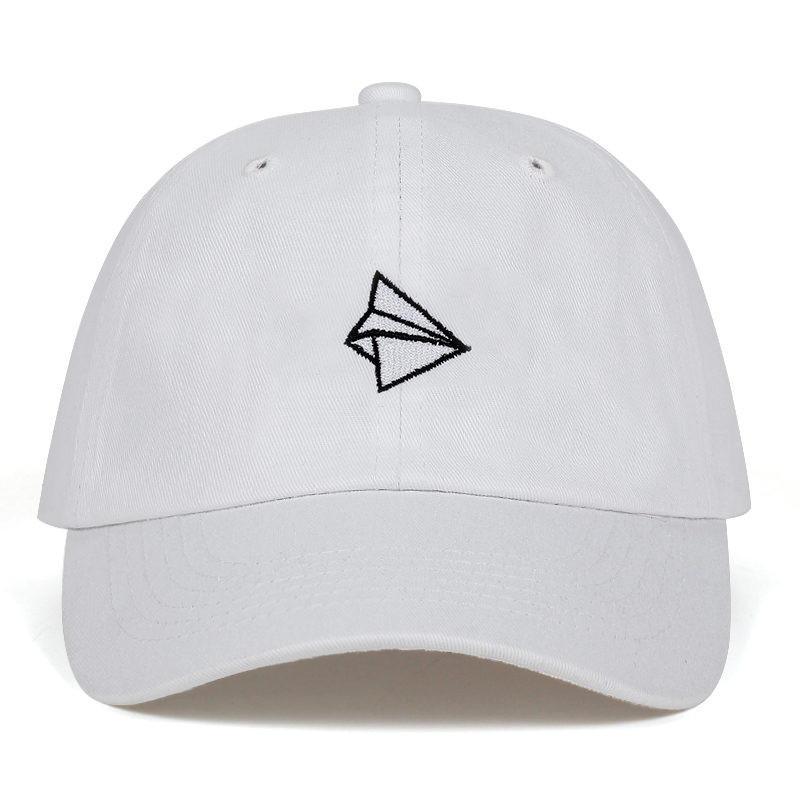 Paper Plane Embroidery Baseball Cap Men Women Summer Adjustable Cotton Lovely Dad Hat Hip Hop Snapback Cap