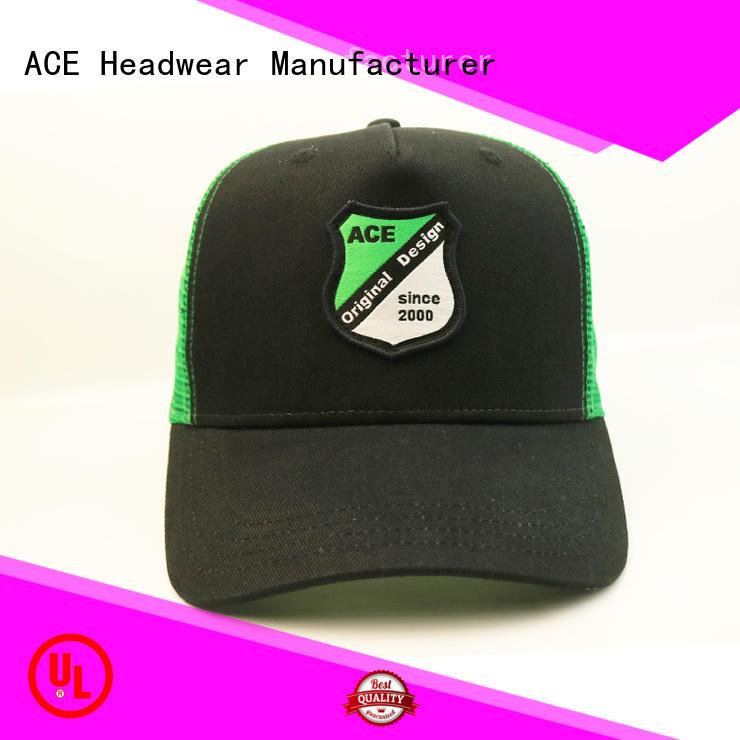 ACE portable black trucker cap for wholesale for Trucker