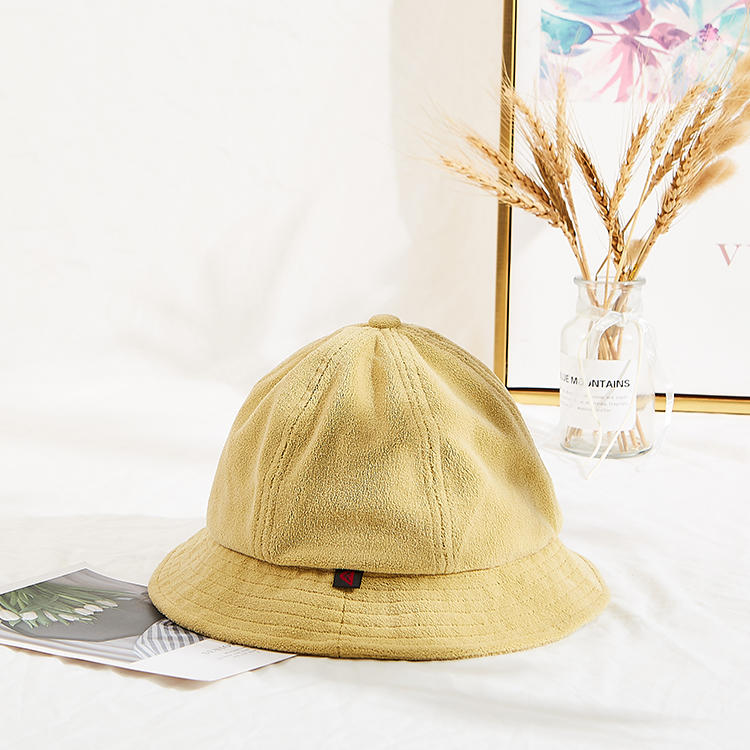 Custom winter terry towel bucket hats with customized label bucket hat