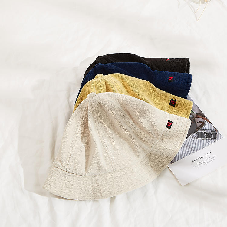BCH13-Custom Embroidery Bucket Hat Bear Panda Terry