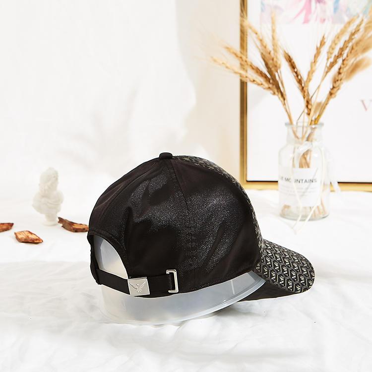 Manufacturer OEM fashion 6 panel custom printing sports black baseball caps