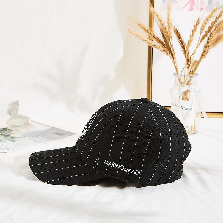 Customised Design printing logo  Caps Hats Black Baseball Caps with metal buckle