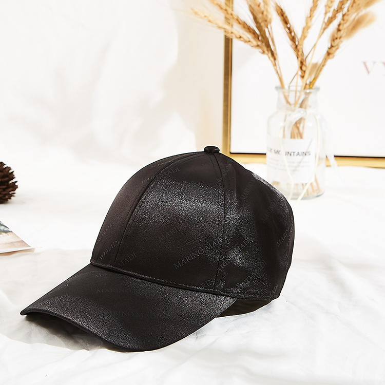 Customized Classic Black Cotton digital printing Baseball Cap as gift