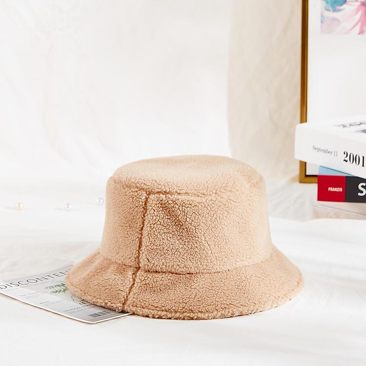 wholesale 2020 fashion custom winter girls warm sherpa fuzzy bucket hat