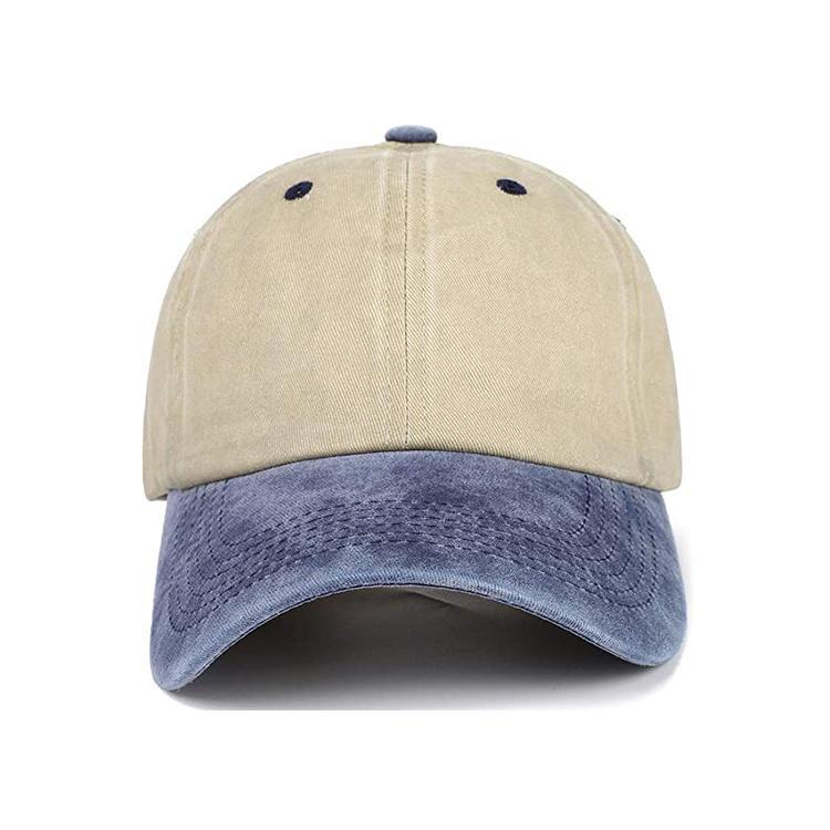 Unisex Washed Dyed Cotton Adjustable Solid Baseball Cap Hat