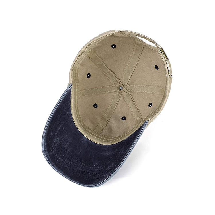Unisex Washed Dyed Cotton Adjustable Solid Baseball Cap Hat