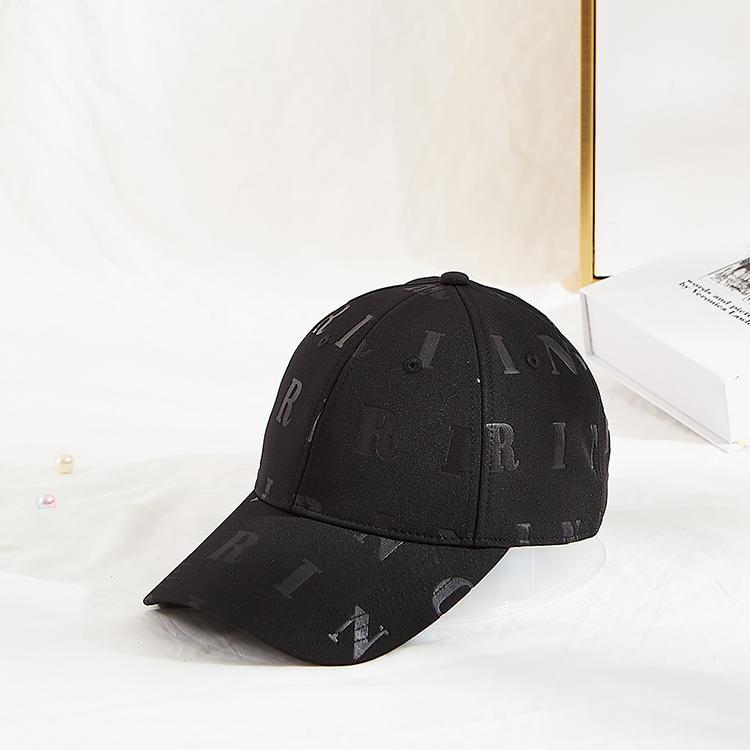 Guangzhou ACE debossed pattern logo on polyester hat  Adjustable Baseball Cap dad hats