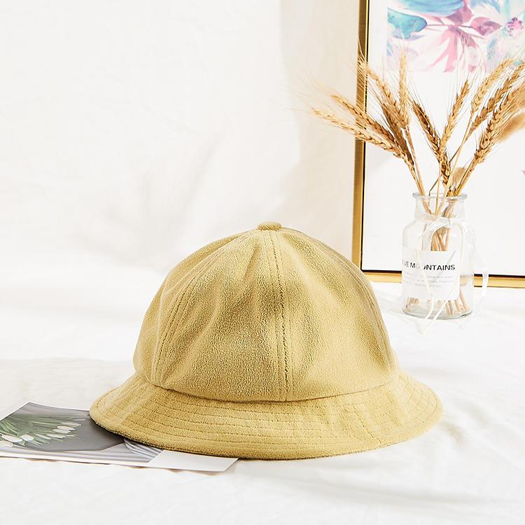 Women Lamb wool Solid Caps with letter Female Bucket Warm Autumn Winter Hats Outdoor Street headwear