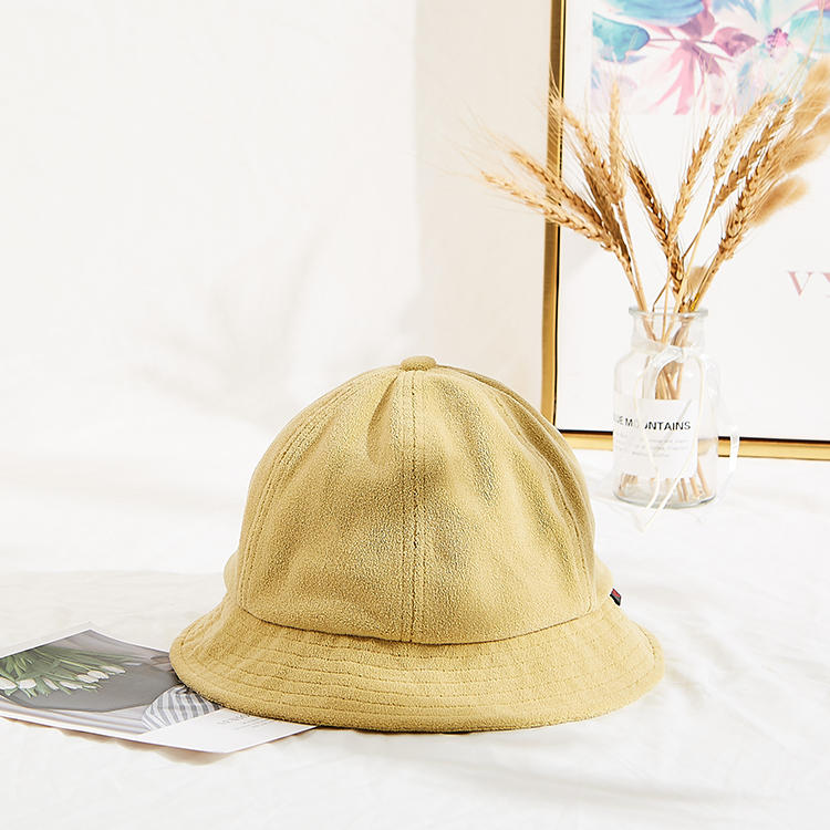 Women Lamb wool Solid Caps with letter Female Bucket Warm Autumn Winter Hats Outdoor Street headwear