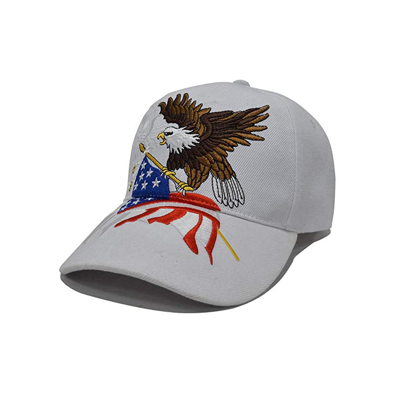 USA Baseball Cap Polo Style Adjustable Embroidered Dad Hat with American Flag for Men and Women